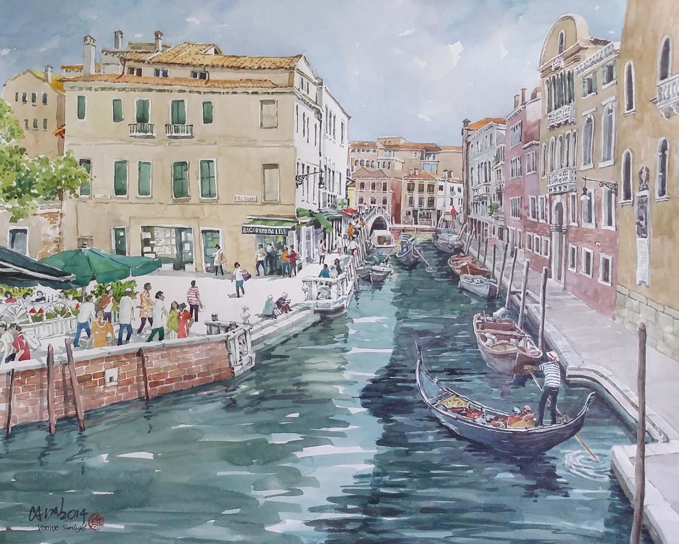Venice on a Sunny Day – 2014 (83 cm x 66 cm)