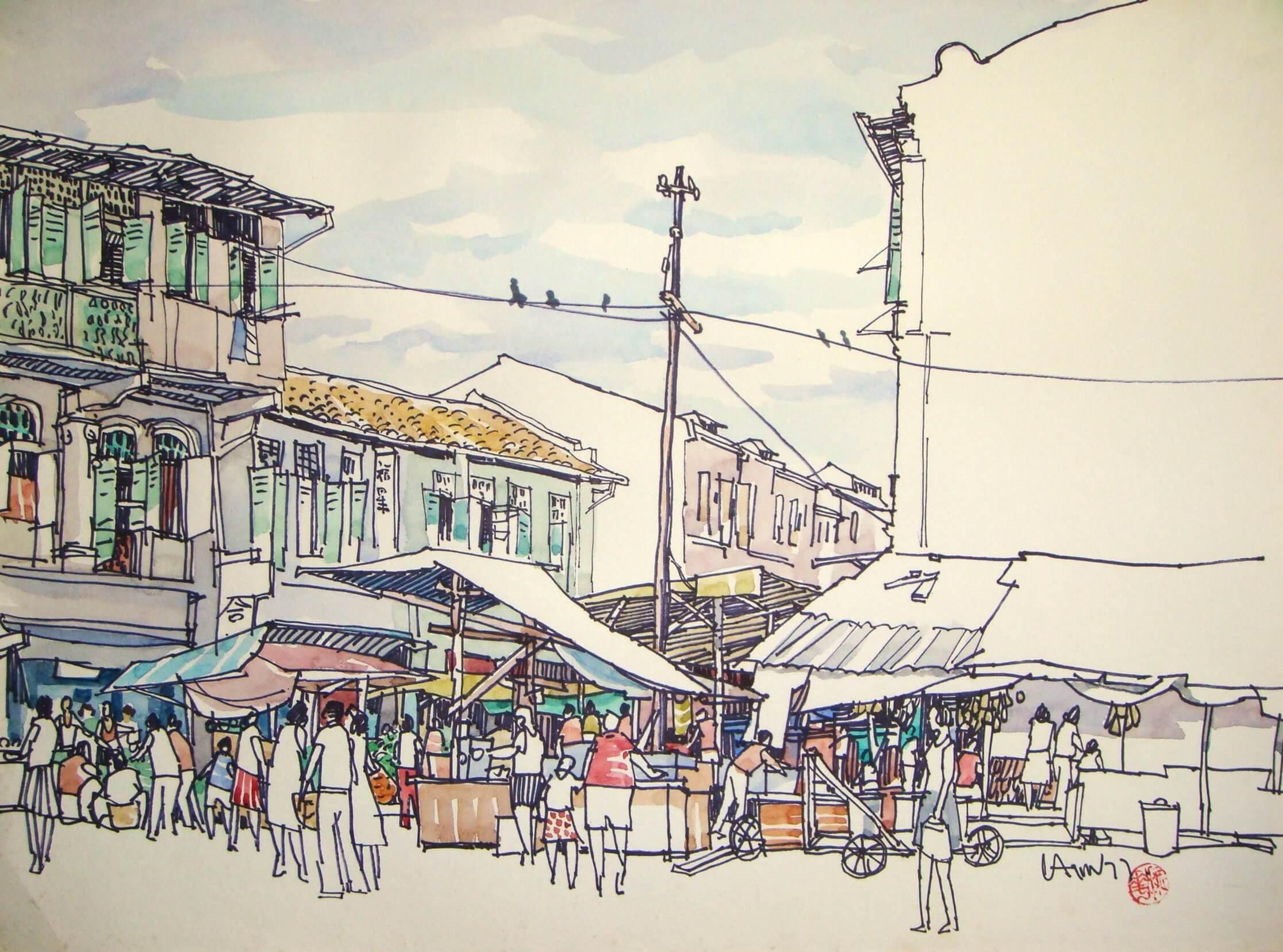Chinatown – 1977 (49 cm x 36 cm)