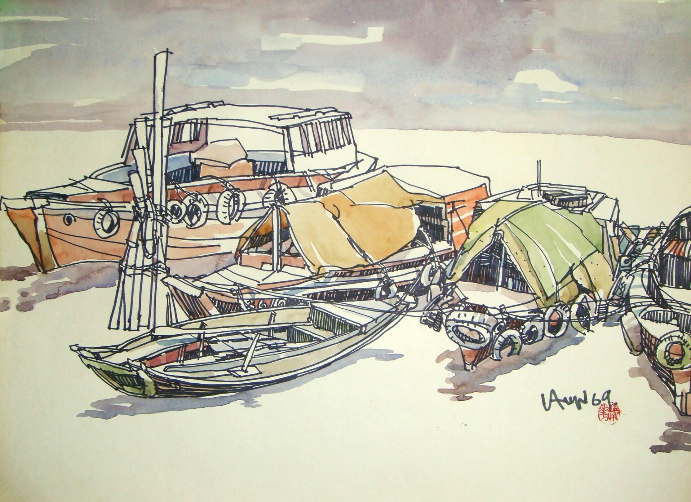 Anchoring – 1969 (50 cm x 36 cm)